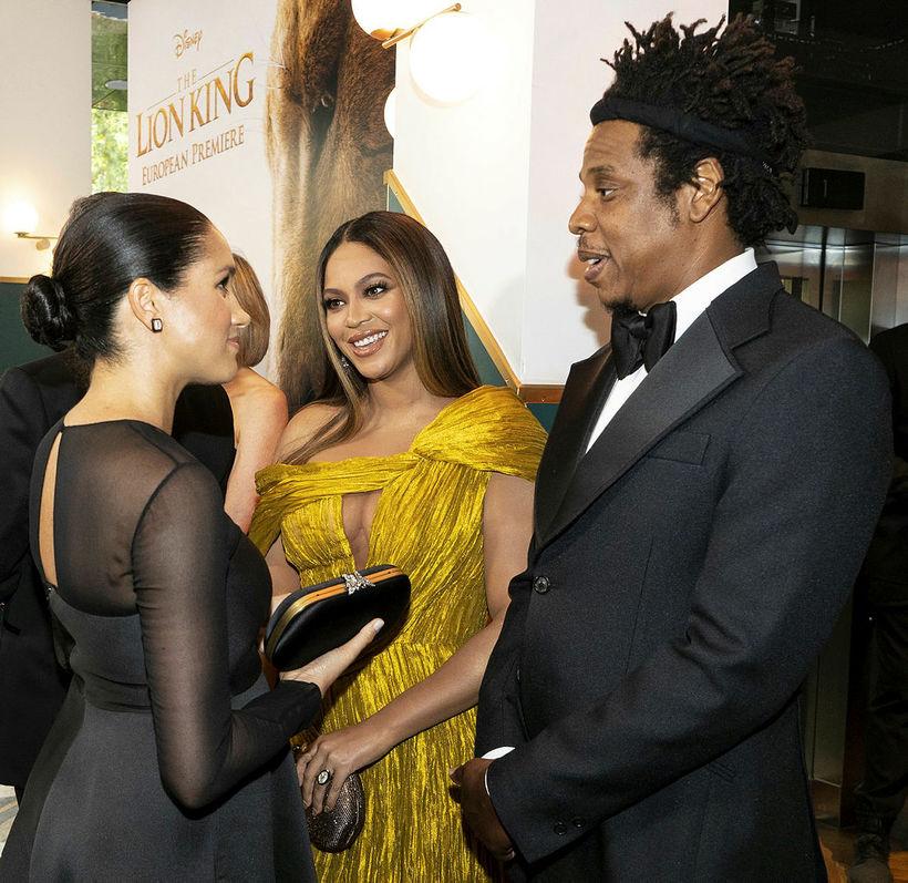 Meghan hertogaynja spjallaði við Beyoncé og Jay-Z á frumsýningu í ...