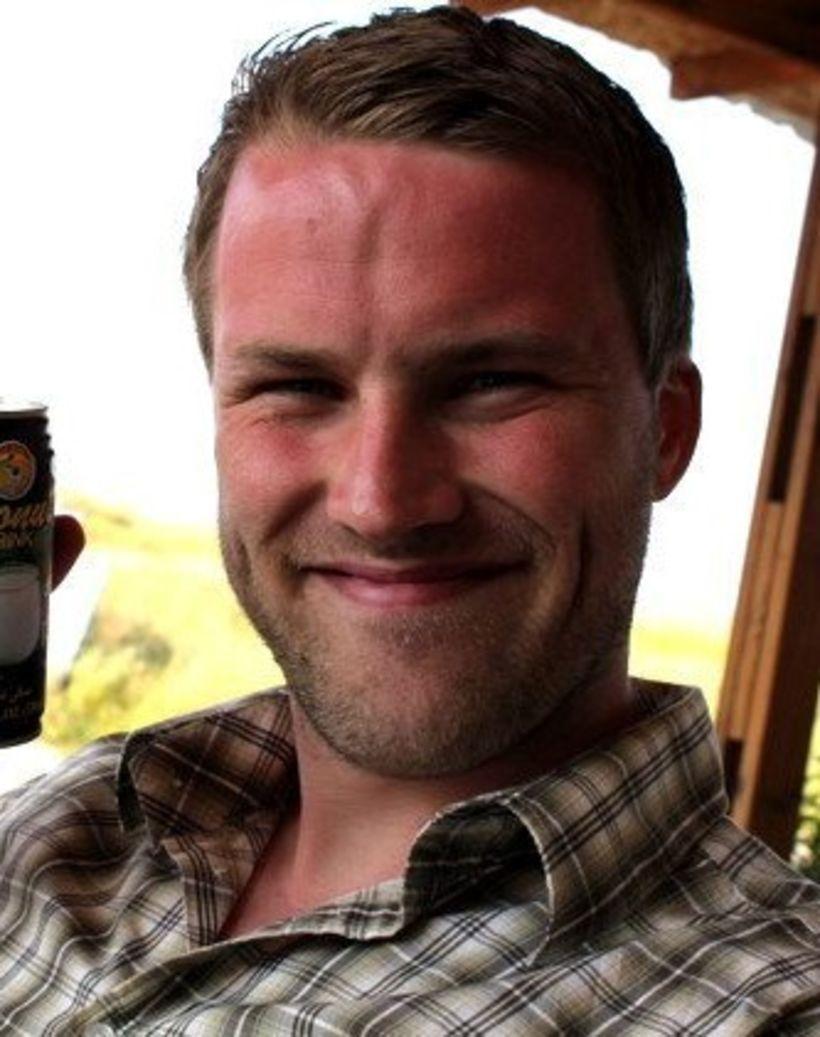 Bjarki Borgþórsson sér um viðhald á vissum mannvirkjum Veðurstofunnar á ...