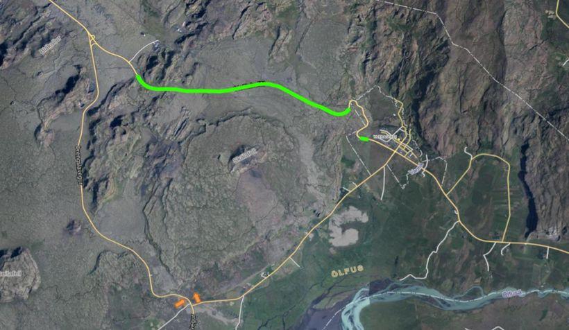Um 9 km vegkafli á Hellisheiði verður malbikaður.