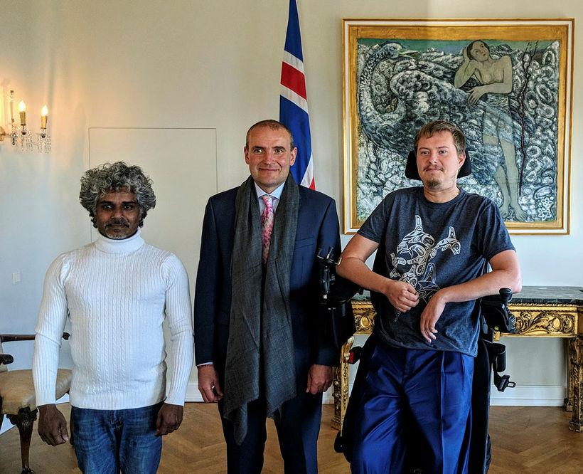 Rahul Bharti fór ásamt Brandi Bjarnasyni Karlssyni að heimsækja forsetann …