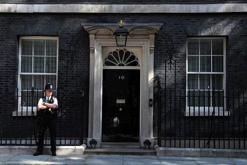 Skrifstofa forsætisráðherra Bretlands í Downingstræti 10 í London.