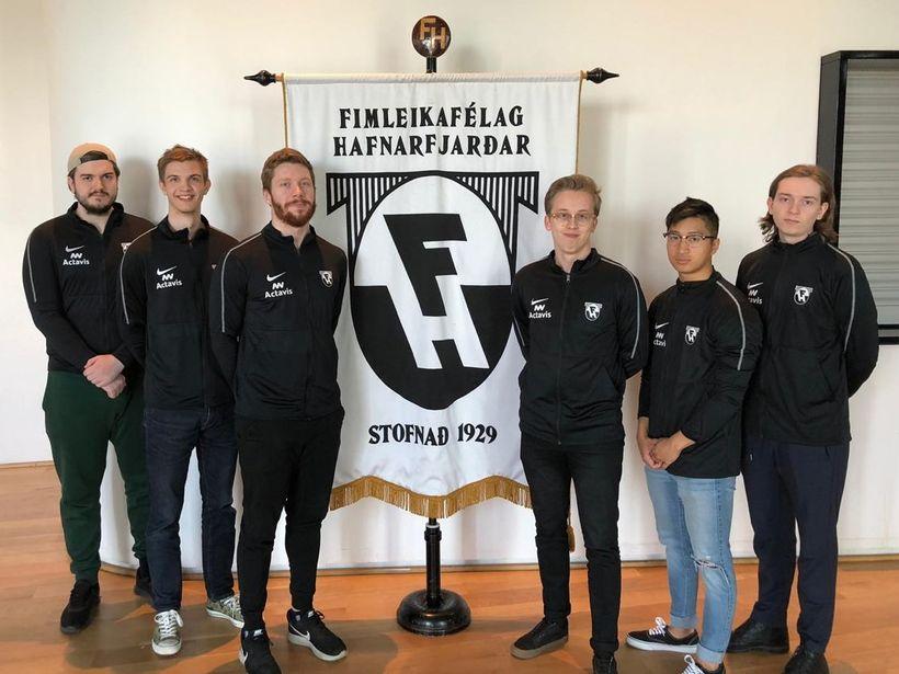 Liðsmenn FH eSports.