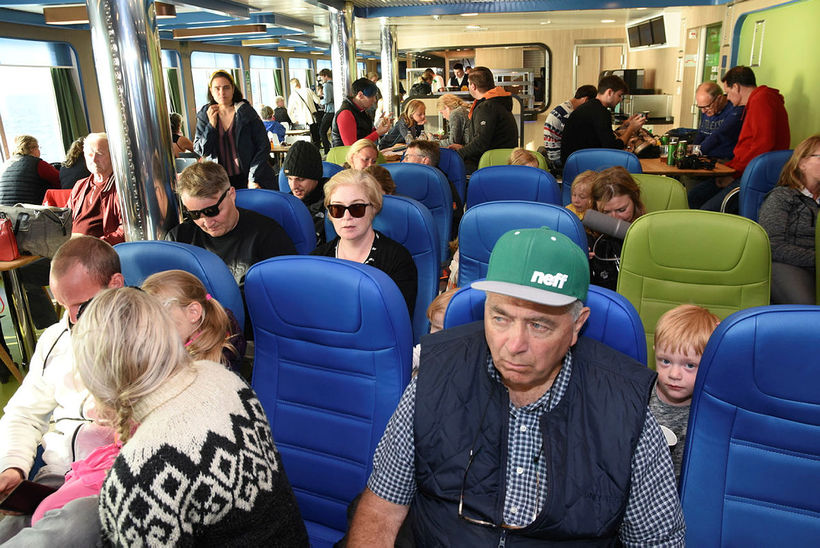 Passengers were comfortably seated.
