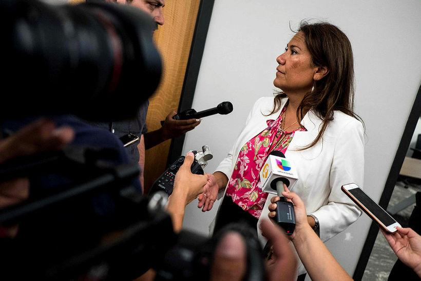 Veronica Escobar, þingmaður demókrata frá El Paso.