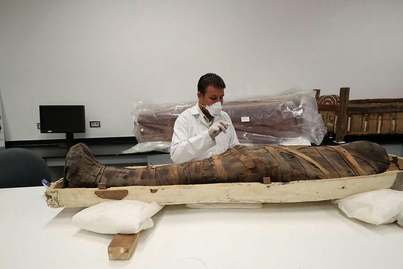 3,000 ára gömul múmía Tútankamons.