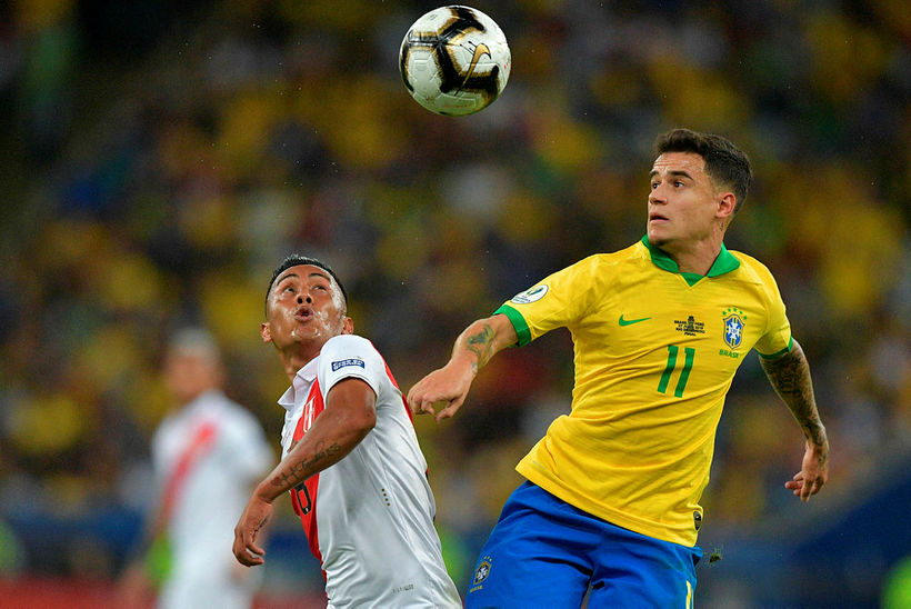 Coutinho varð Suður-Ameríkumeistari með Brasilíu í sumar.