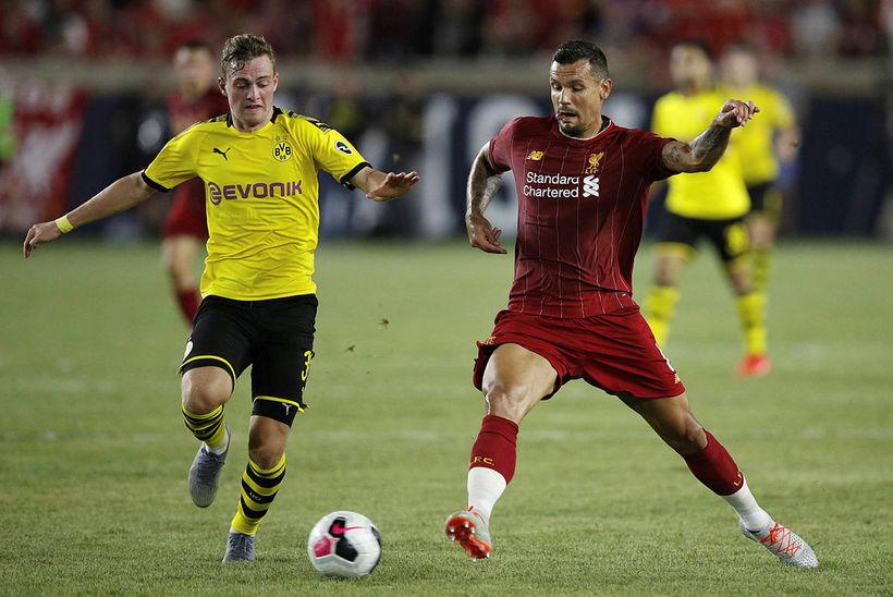 Dejan Lovren í leik með Liverpool.