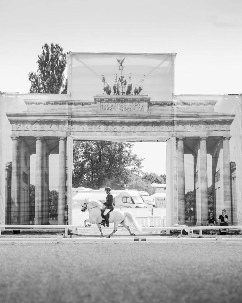 Umgjörðin var flott á vellinum í Berlín.