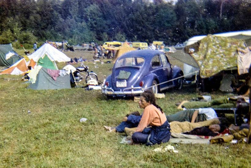 Jerry Griffin ferðaðist einmitt á Volkswagen-bjöllu á hátíðina.