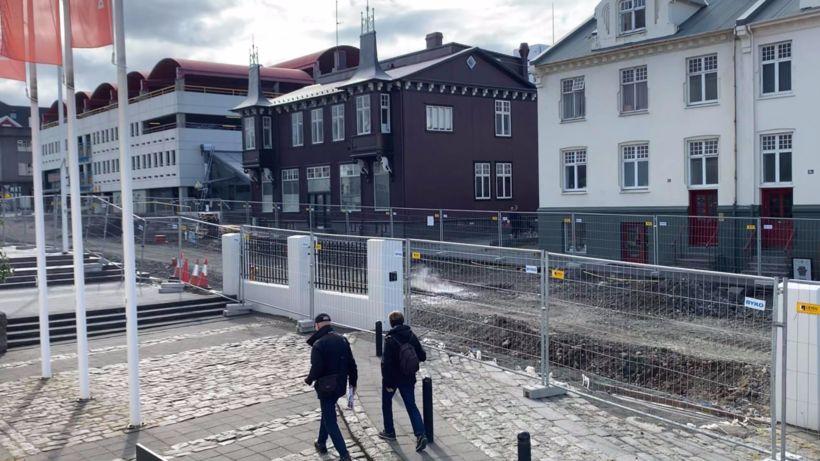 Framkvæmdir hafa staðið yfir við Hverfisgötu í sumar.