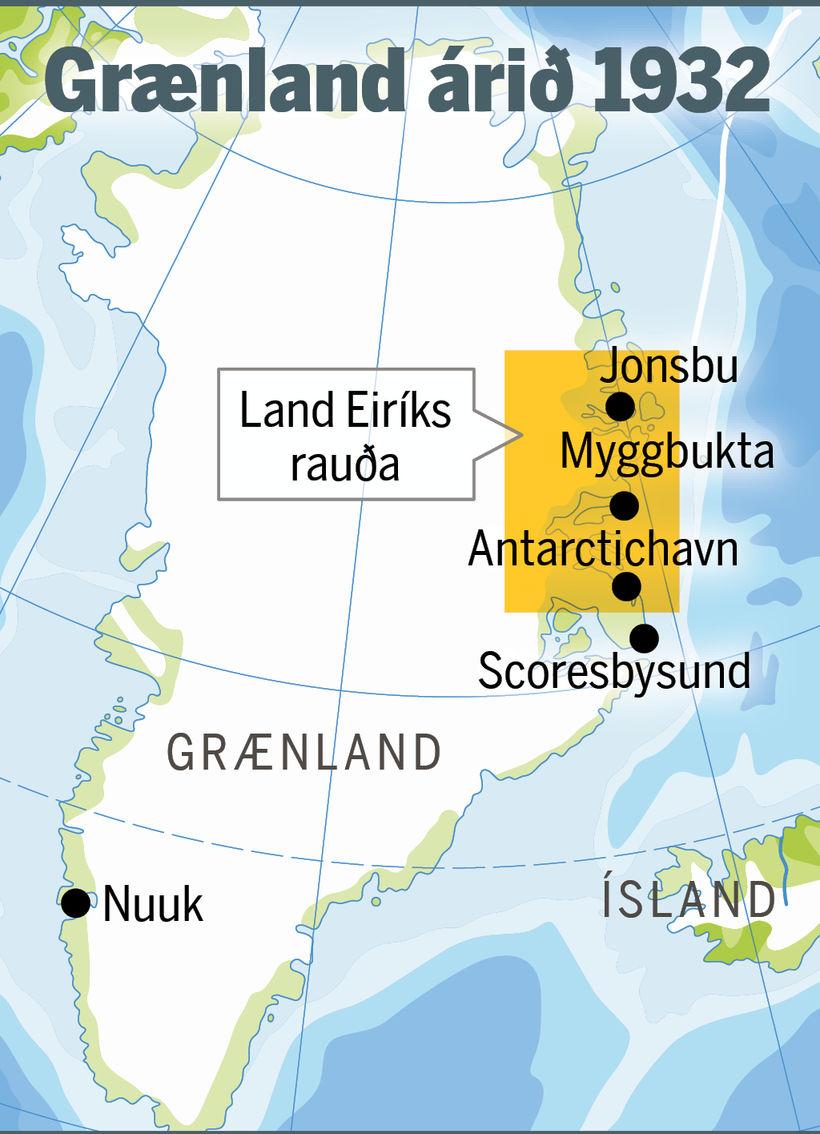 Norðmenn námu land á Austur-Grænlandi og komu þar upp þremur ...