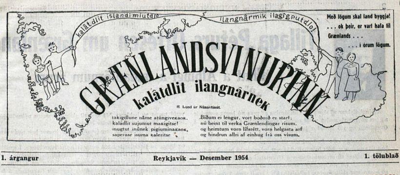 Af forsíðu Grænlandsvinarins árið 1954.