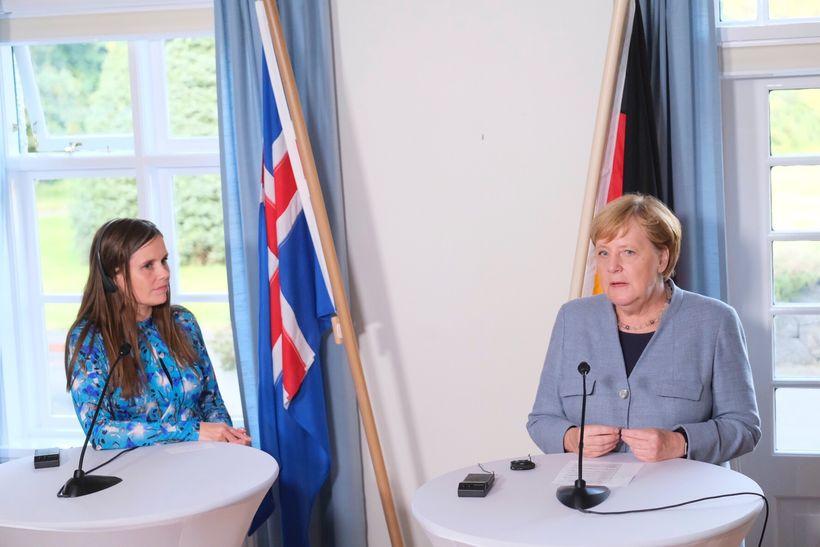 Katrín rifjaði upp menntaskólaþýskuna á fundinum.