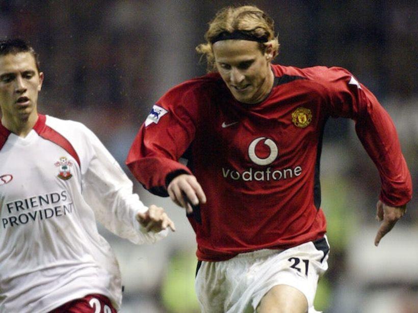 Diego Forlan í leik með United.
