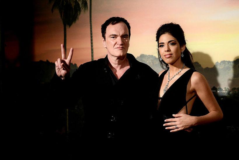 Quentin Tarantino og eiginkona hans Daniella Pick eiga von á …