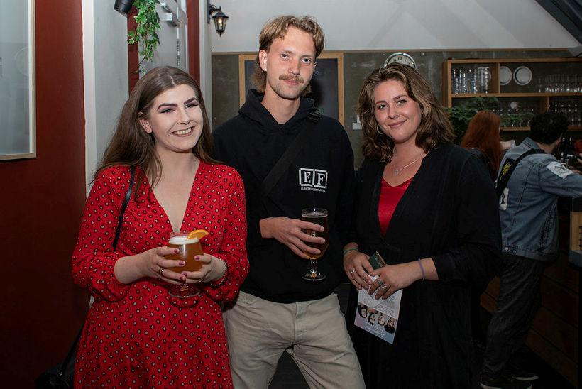 Steinunn Ólína Hafliðadóttir, Kjartan Tindur Gunnarsson og Antonía Berg.
