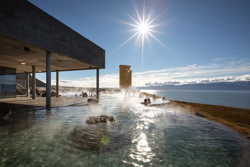The Sea Baths in Húsavík.