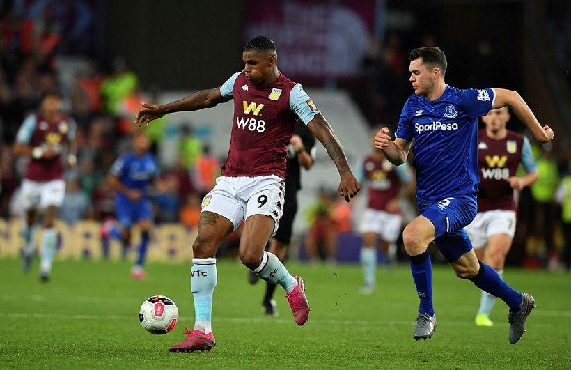 Wesley var frábær fyrir Aston Villa gegn Michael Keane og ...