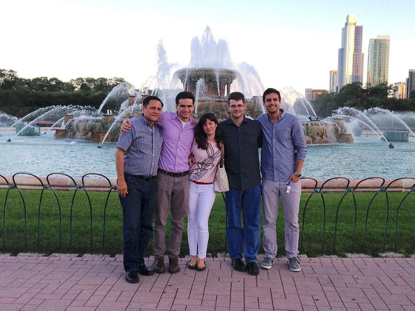 Ólafur, with his Ecuadorian family in Chicago, 2014. From left: …