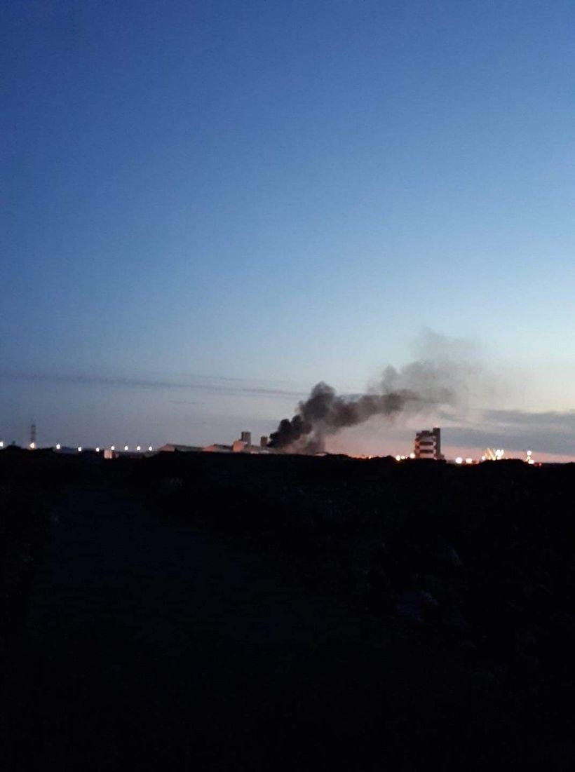 The smoke was black.