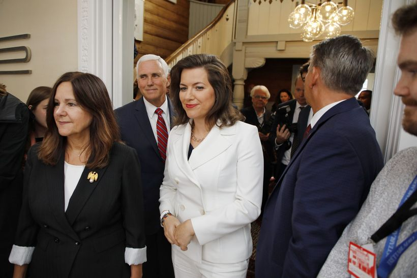 Iceland's First Lady Eliza Reid, with US Vice President Mike ...