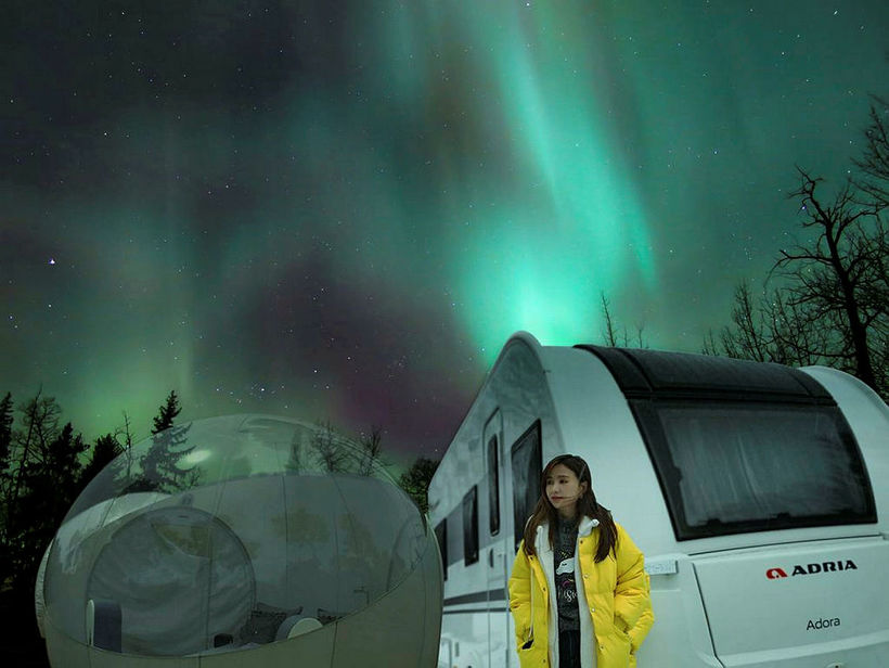 Loo plans to build a northern lights center.