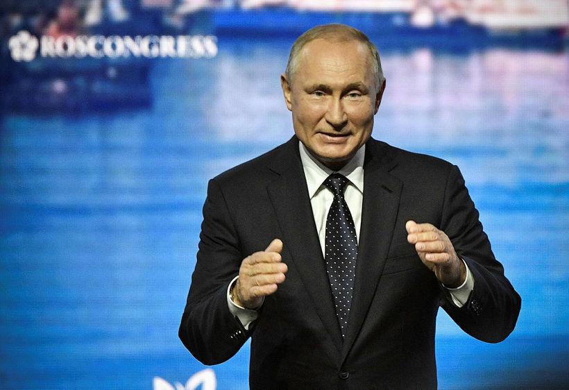 Vladimir Putin, forseti Rússlands, á ráðstefnunni Eastern Economic Forum.
