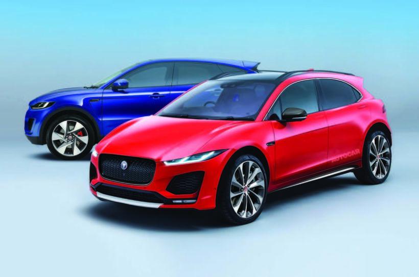 Jaguar smájeppi aftar og framar crossover bílgerðin nær.