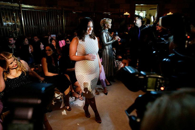 Ashley Graham á tískuvikunni í New York þann 7. september.