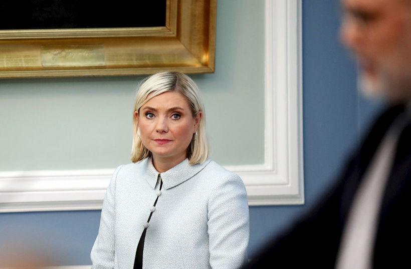 Lilja Alfreðsdóttir í þingsal Alþingis.
