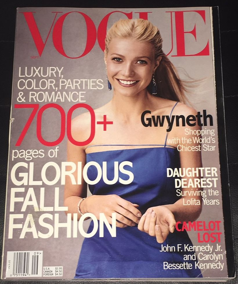 Gwyneth Paltrow leit fallega út á forsíðu Vogue. Það þurfti ...