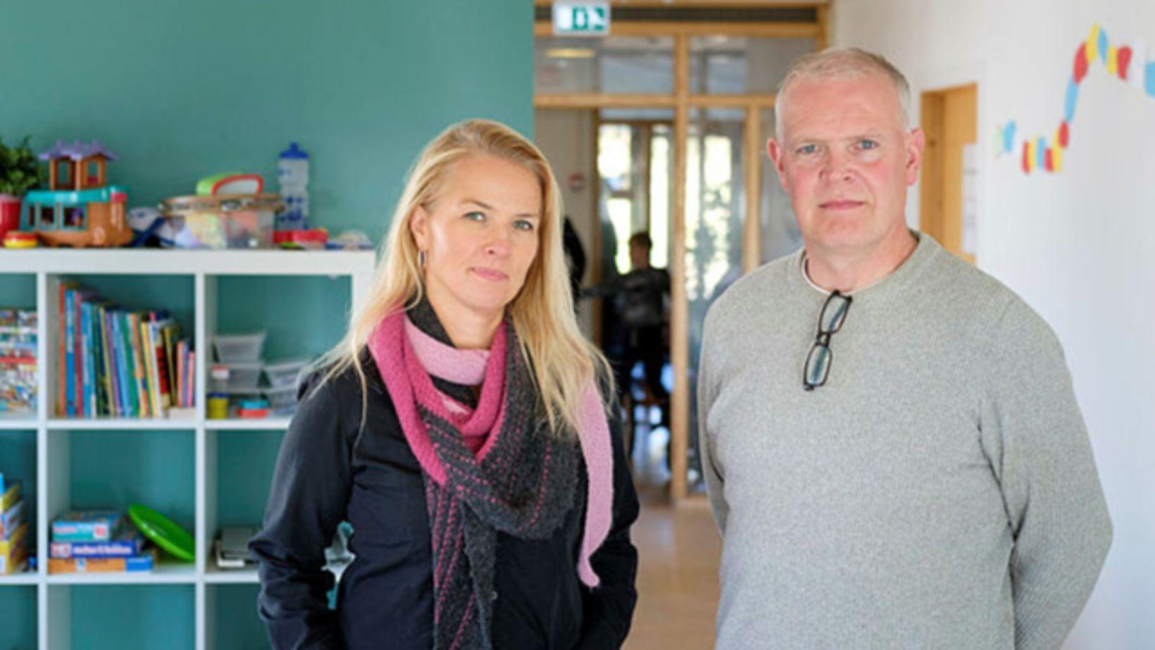 María Sigurjónsdóttir, fagstjóri Arnarskóla og Atli Magnússon, framkvæmdastjóri skólans, segja …