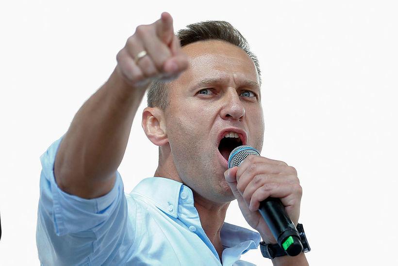 Alexei Navalny, leiðtogi rússnesku stjórnarandstöðunnar.