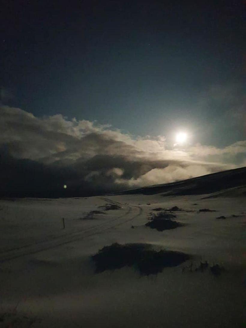 Myndin er tekin í gær, rétt norðan Skjaldbreiðar.