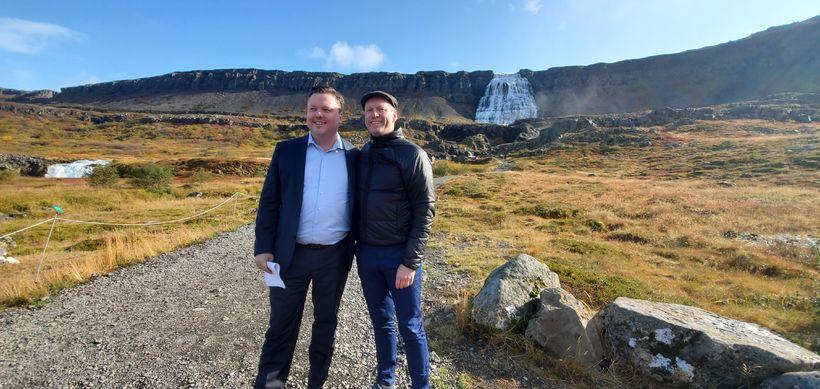 Guðmundur Ingi Guðbrandsson umhverfis- og auðlindaráðherra og Birkir Jón Jónsson ...