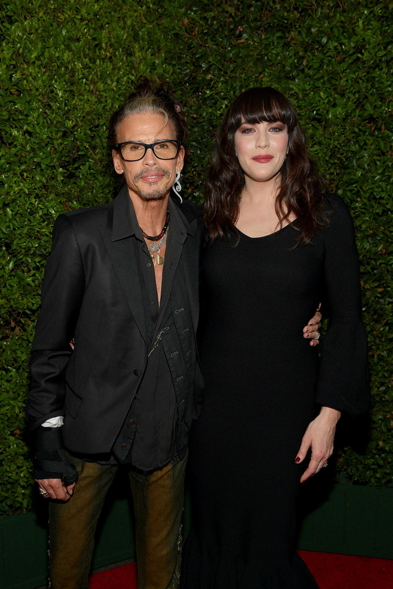 Steven Tyler og dóttir hans Liv Tyler.