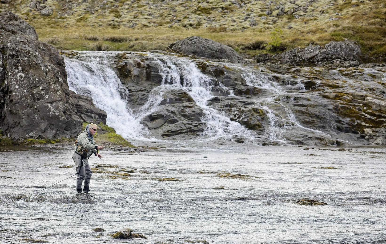 Veiðivörður í Norðurá hafði aldrei séð eins mikið vatn í ...