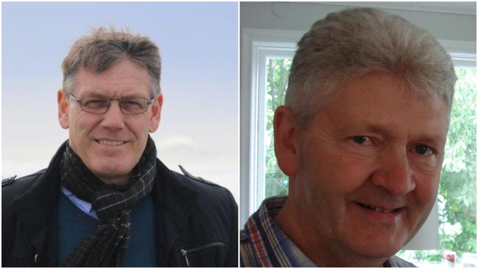 Pétur Hafsteinn Pálsson, framkvæmdastjóri Vísis og Gunnar Tómasson, framkvæmdastjóri Þorbjarnar.