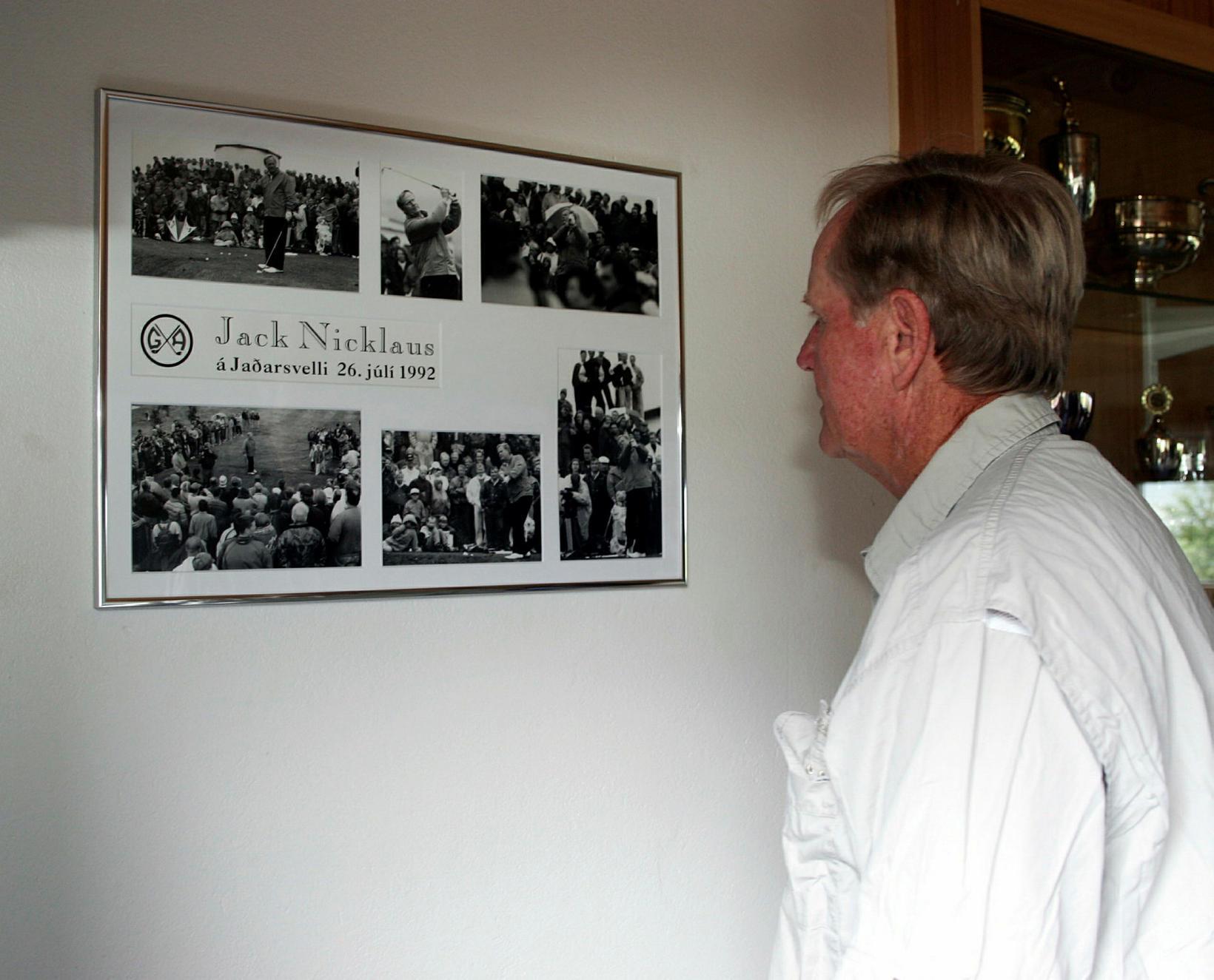 Jack Nicklaus í heimsókn hjá Golfklúbbi Akureyrar þar sem hann …