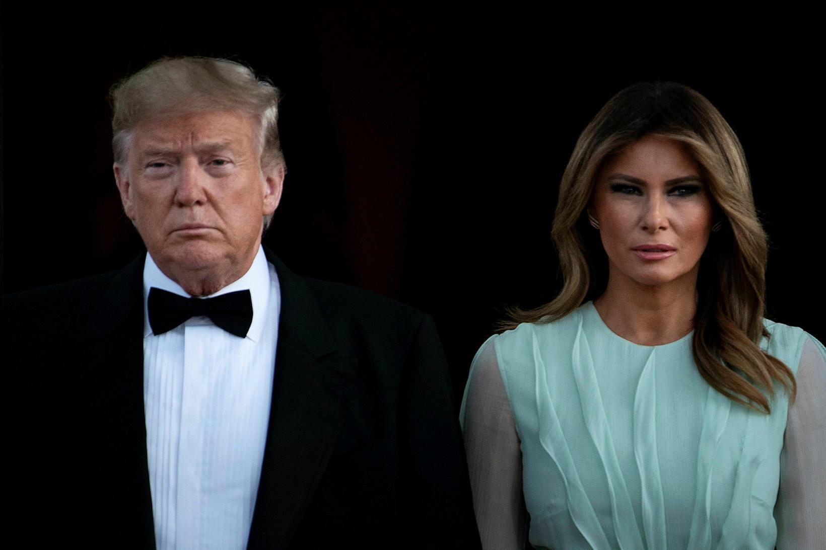 Donald Trump Bandaríkjaforseti og forsetafrúinn Melania Trump. Hvíta húsið pantaði ...