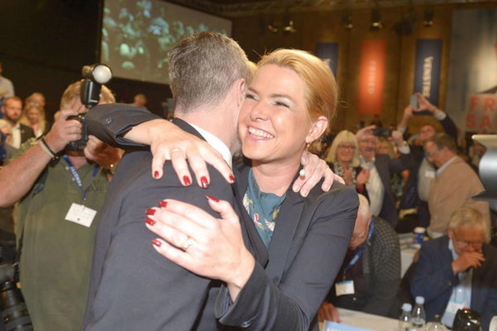 Inger Støjberg var kjörin varaformaður Venstre á landsfundi flokksins í ...