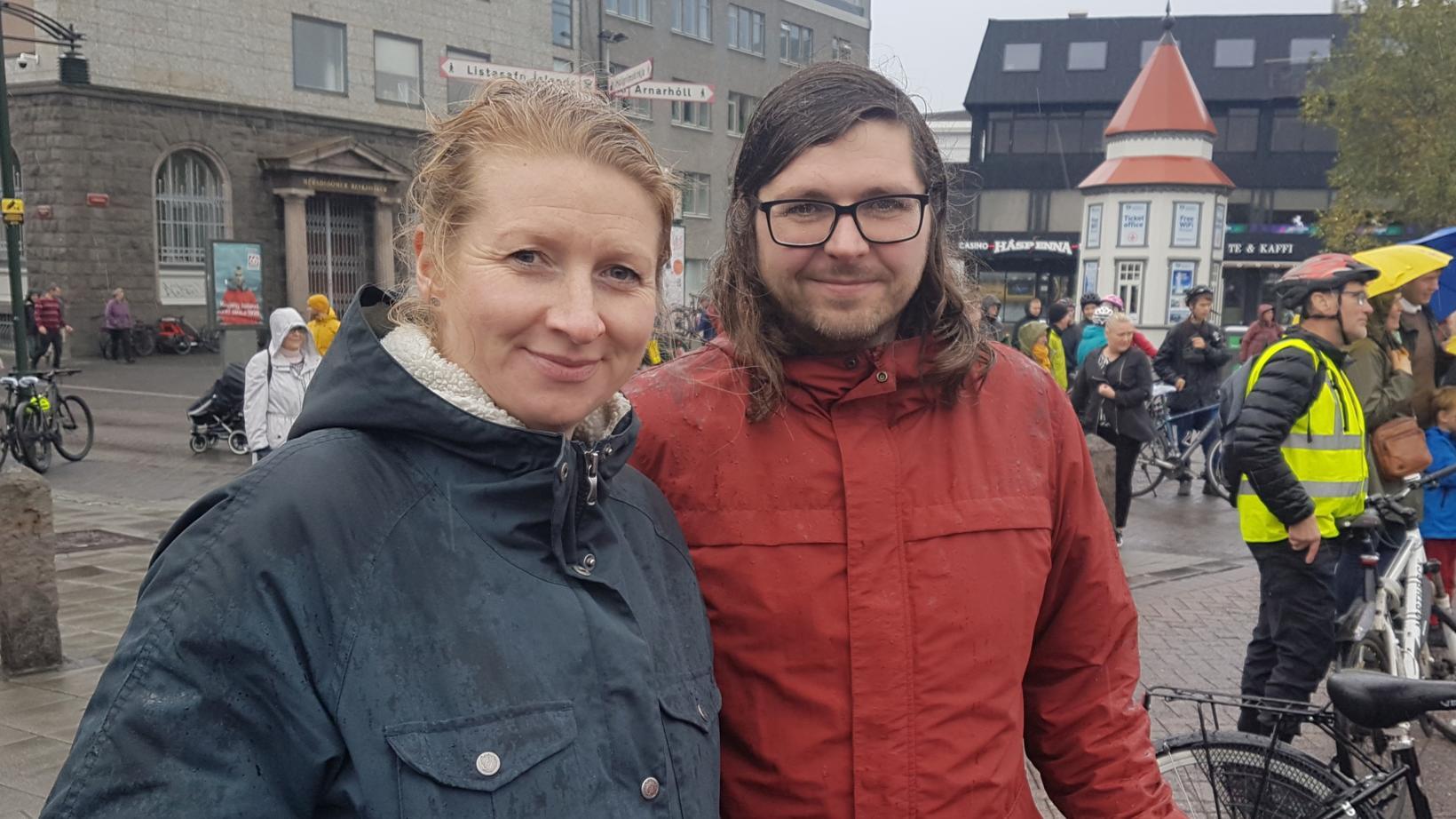 Júlía Björnsdóttir and Þór Ingvarsson.