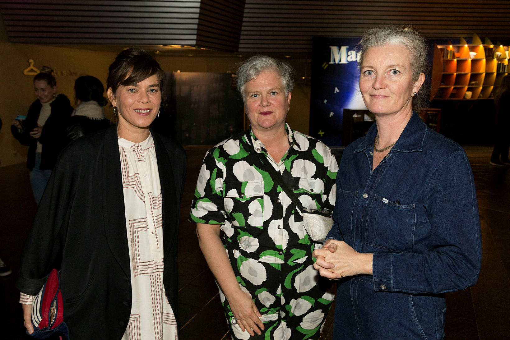 Margrét Örnólfsdóttir, Steinunn Knútsdóttir og Halldóra Geirharðsdóttir.
