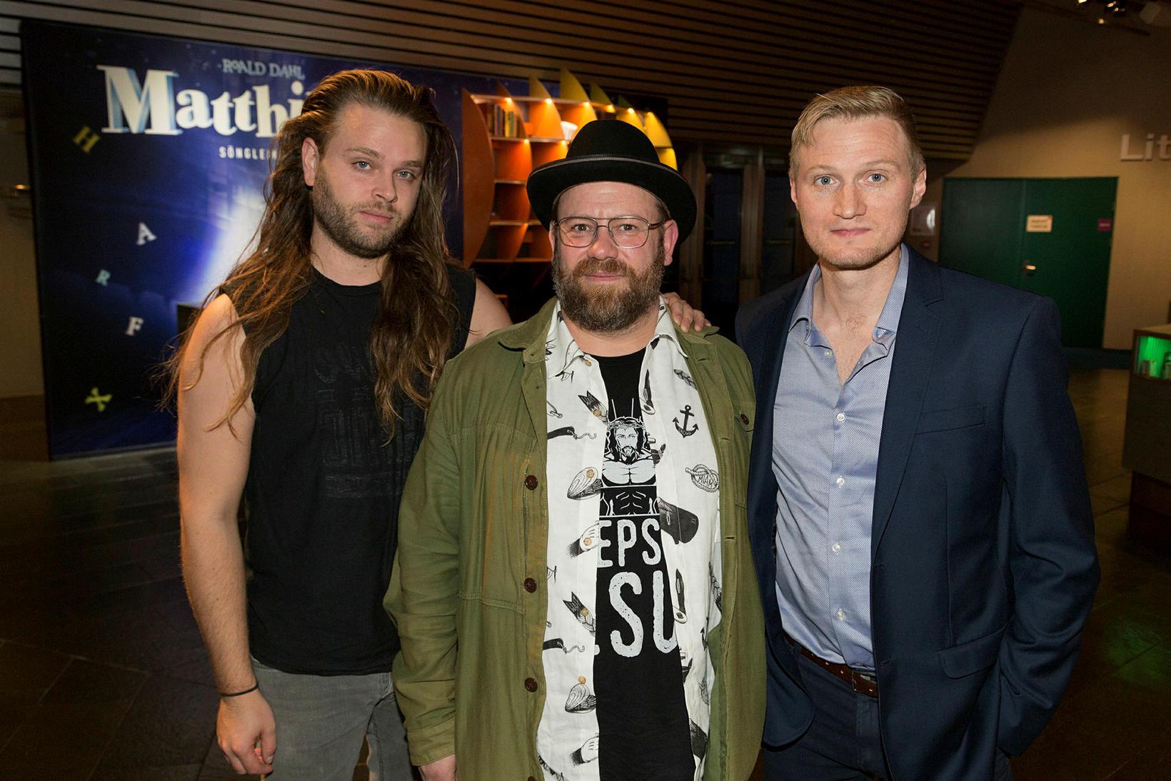 Arnar Pétursson, Helgi Svavar Helgason og Finnur Friðrik Einarsson.