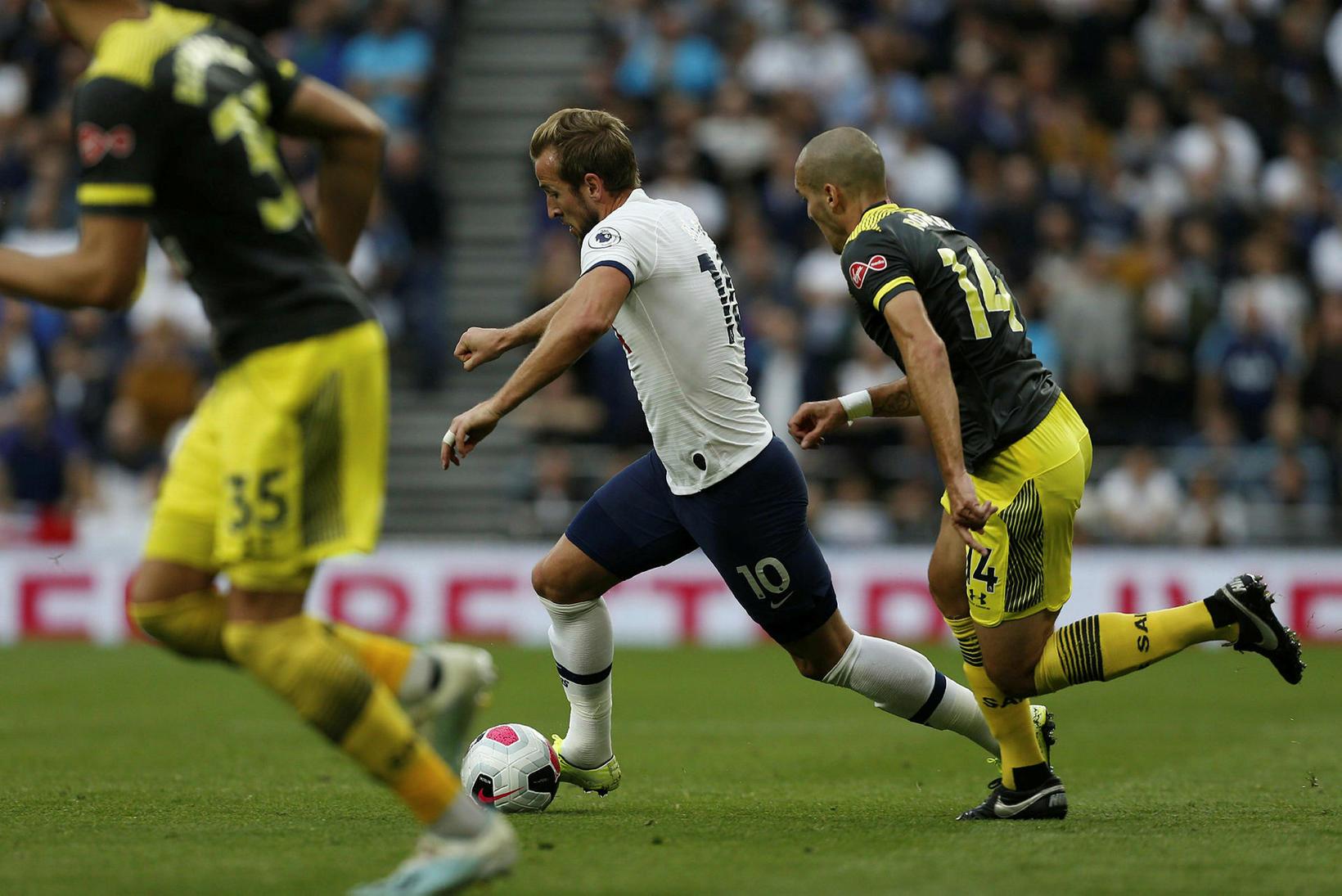 Harry Kane skoraði sigurmark Tottenham.
