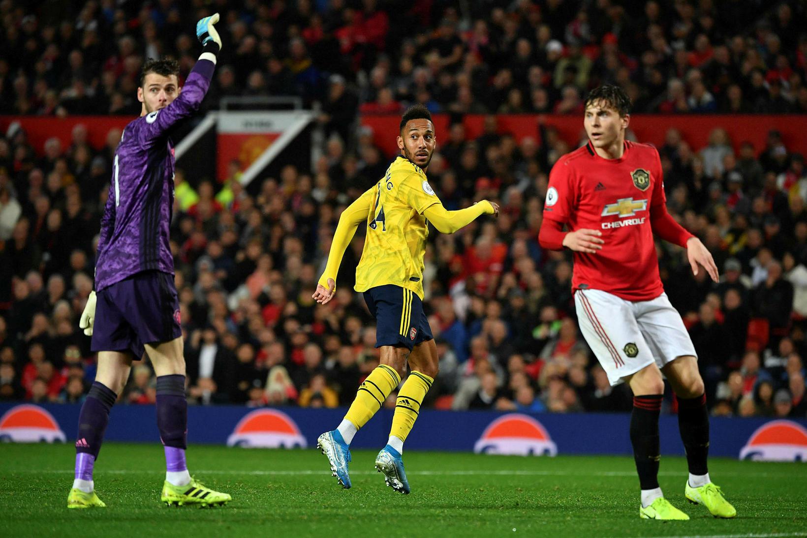 Manchester United og Arsenal skildu jöfn í kvöld.