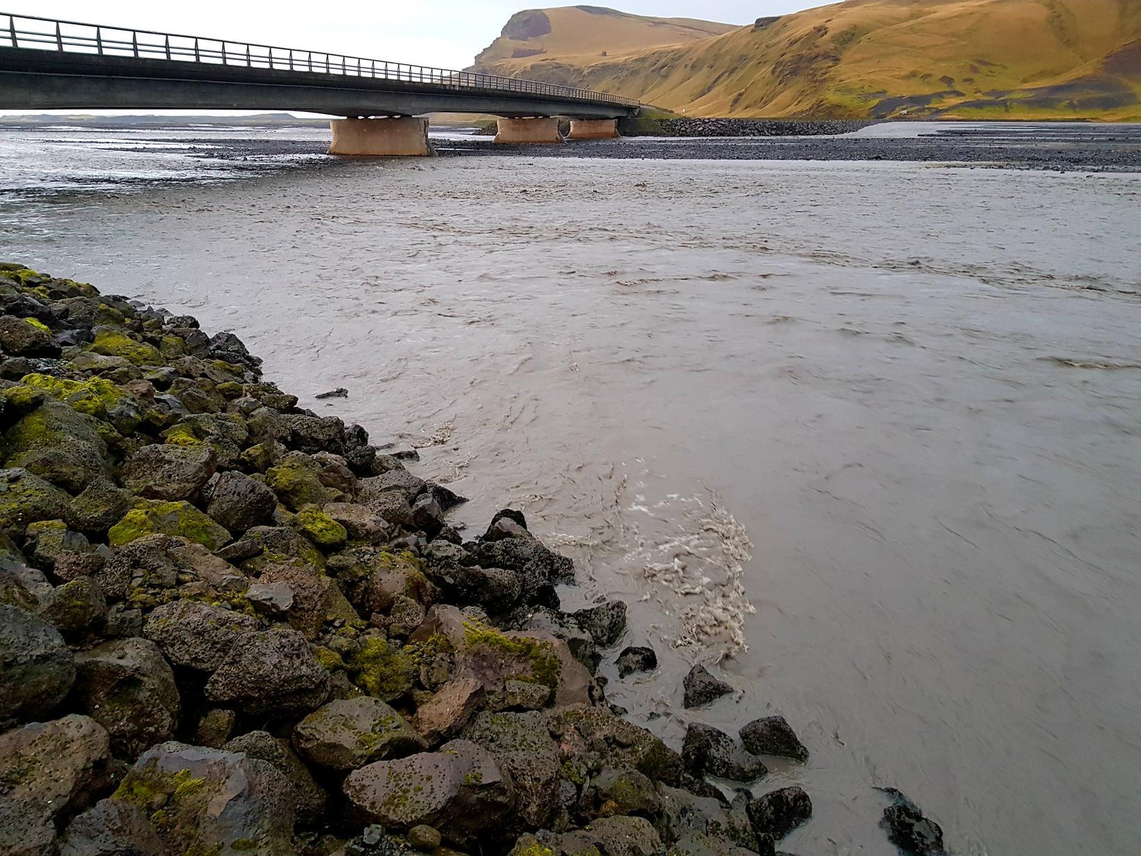 From Múlakvísl river.