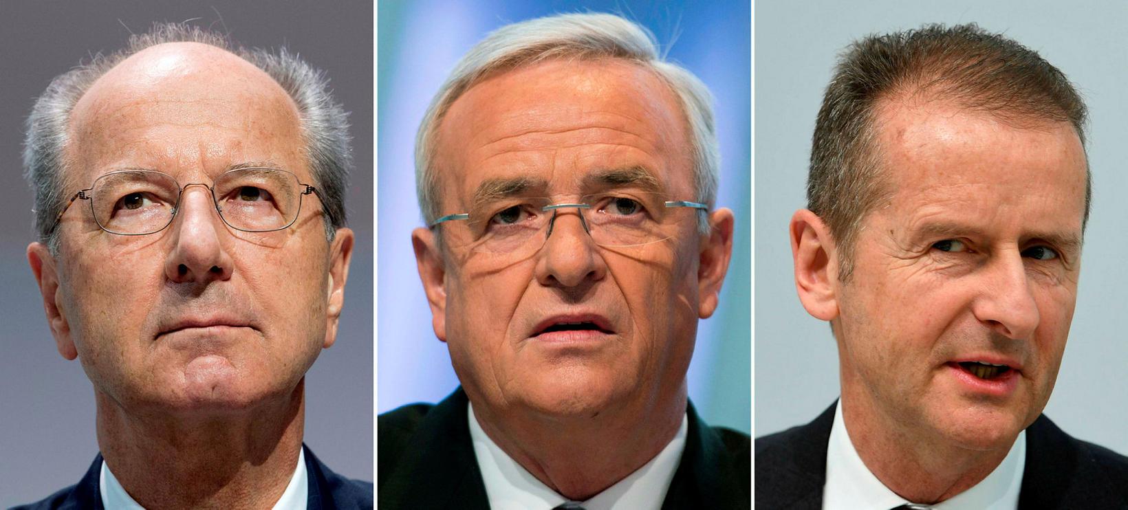 Hans Dieter Pötsch, stjórnarformaður Volkswagen, Martin Winterkorn, fyrrverandi forstjóri VW, …