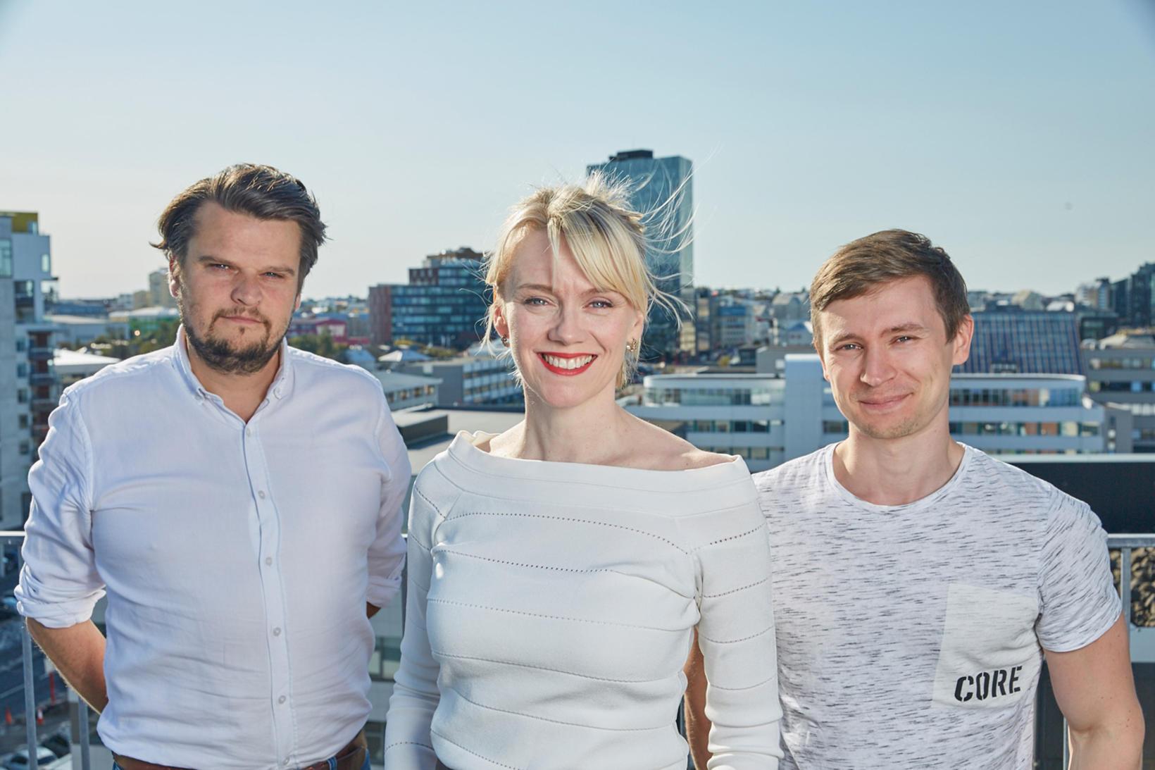 Hilmar Þór Birgisson, Margrét Júlíana Sigurðardóttir and Jón Gunnar Þórðarson ...