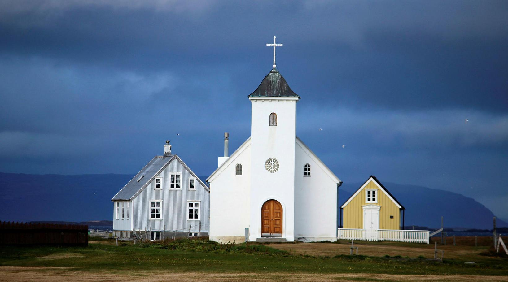 The church on Flatey island.
